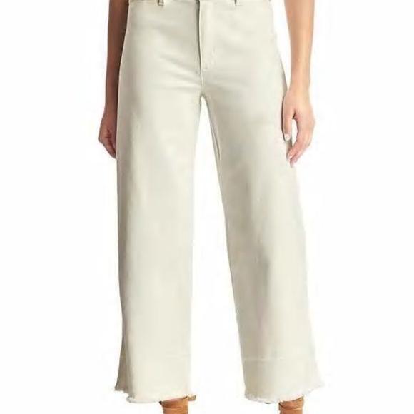 751d743751eb White GAP wide leg cropped snowcap jeans